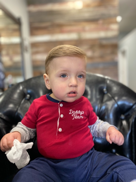 Baby's first haircut.