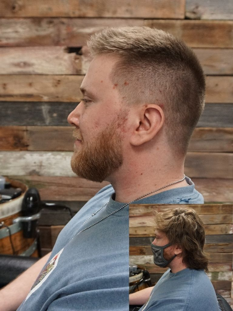 Before and After Photo, Mens haircut- Rick Paper Clippers, Kansas City, MO 64151