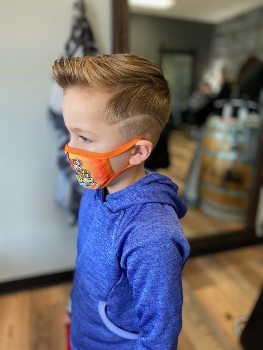 Little Boy's haircut.