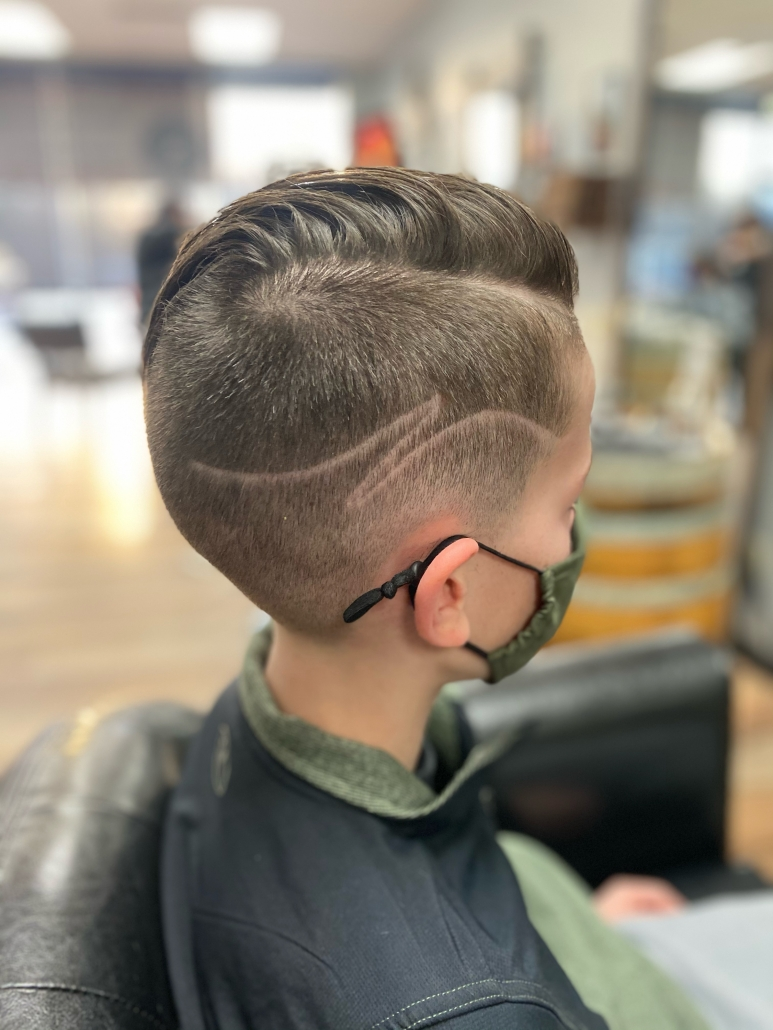 Boy's Haircut with Design.