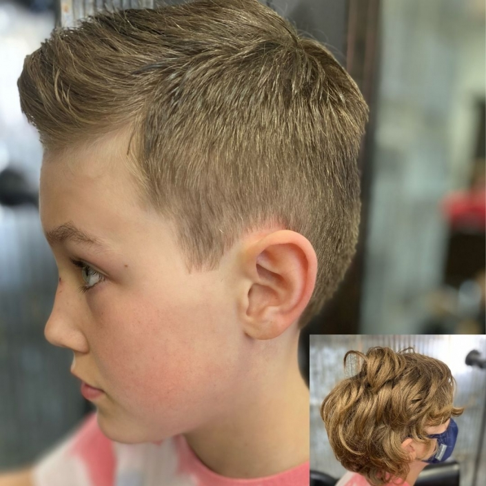 Boys Haircut before and after.