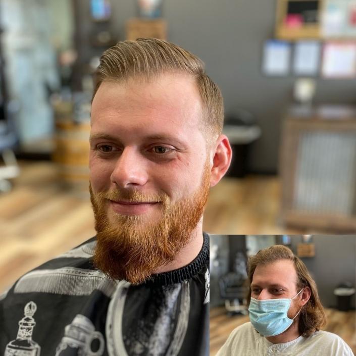 Men's Haircut 4-21-21, Rock Paper Clippers, Kansas City, MO 64151