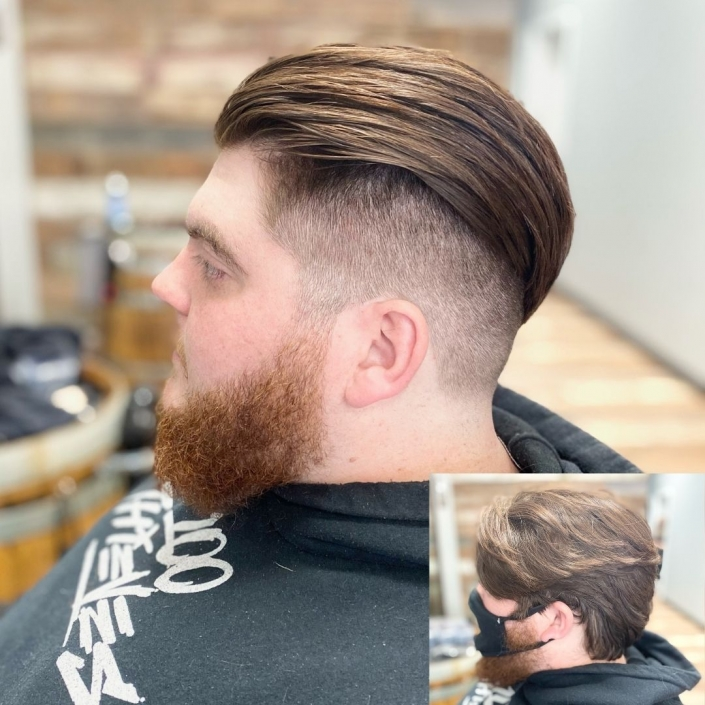 Men's haircut before and after April 22, 2021